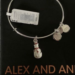 Alex & Ani Silver full body snowman Toys for Tots